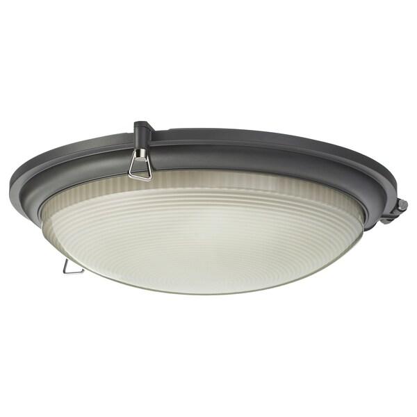 BOGSPRÖT Plafoniera a LED, antracite, 36 cm