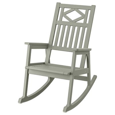 BONDHOLMEN Sedia a dondolo da giardino, grigio