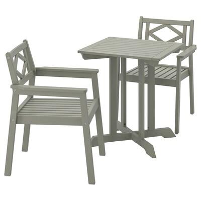 BONDHOLMEN tavolo+2 sedie braccioli, giardino mordente grigio