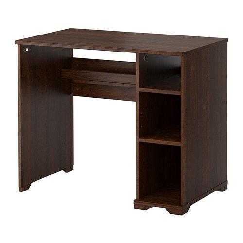 Borgsj scrivania marrone ikea - Cosce aperte sotto il tavolo ...