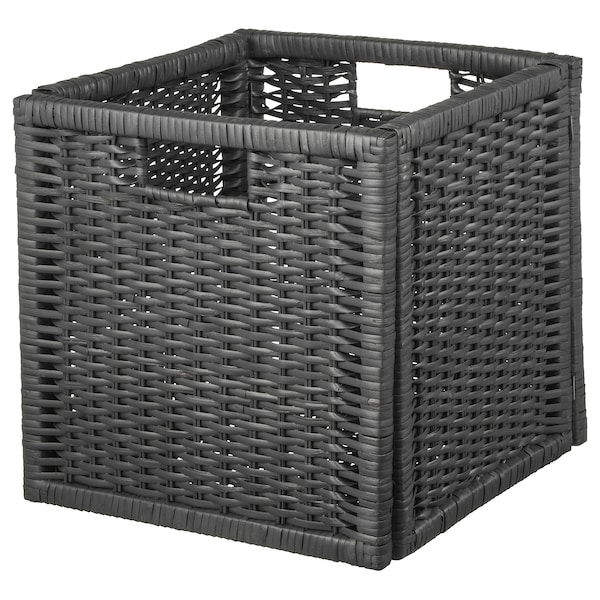 BRANÄS Cestino, grigio scuro, 32x34x32 cm