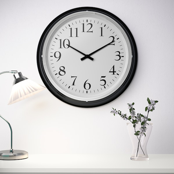 BRAVUR Orologio da parete, nero IKEA IT