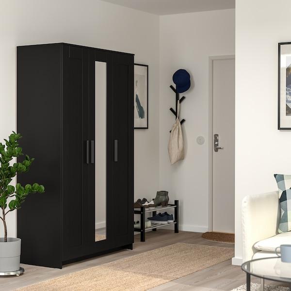 BRIMNES Guardaroba a 3 ante, nero, 117x190 cm IKEA IT