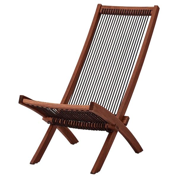 Sedie A Sdraio Ikea.Brommo Sedia Relax Da Giardino Mordente Marrone Nero Marrone