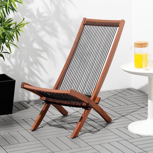 Sedie Sdraio Da Giardino Ikea.Brommo Sedia Relax Da Giardino Mordente Marrone Nero Marrone