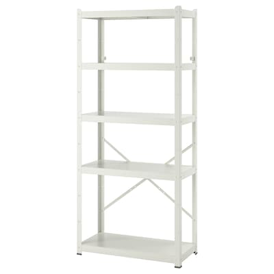 BROR Scaffale, bianco, 85x40x190 cm