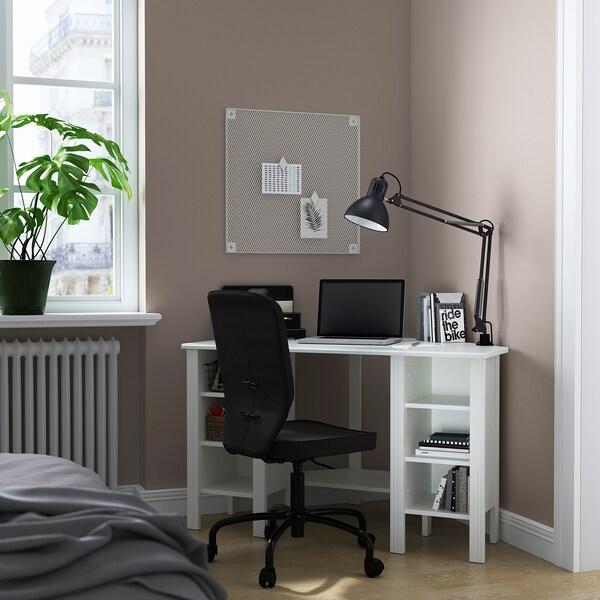 BRUSALI Scrivania angolare, bianco, 120x73 cm