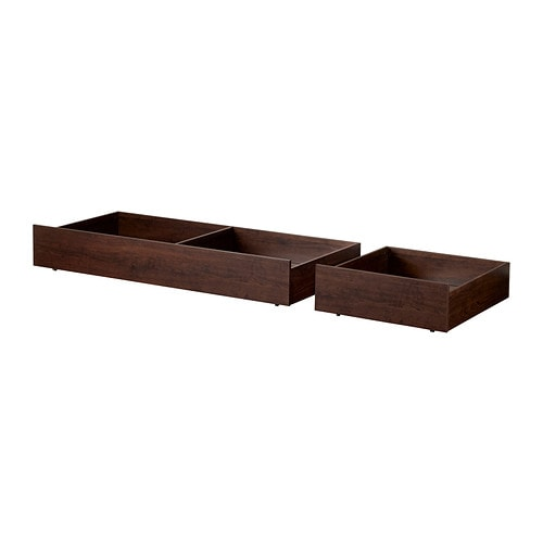 Brusali set di 2 contenitori sottoletto marrone ikea - Ikea letto brusali ...
