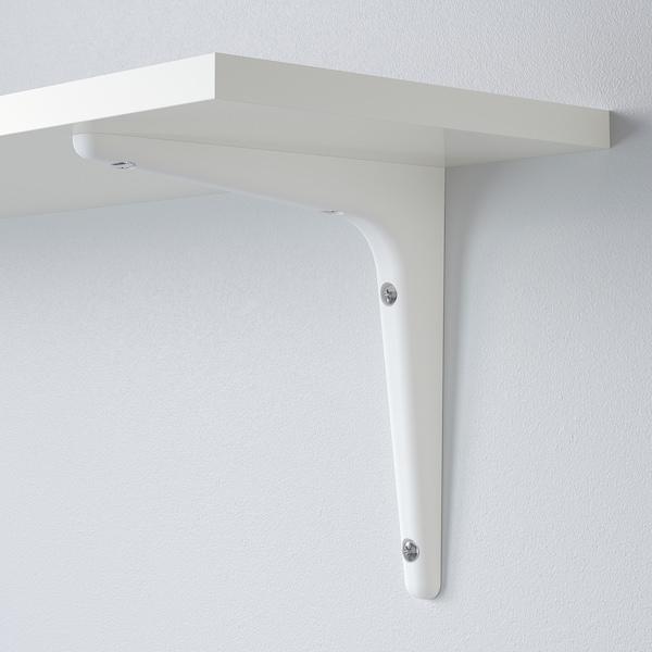 BURHULT / SIBBHULT Mensola e staffe, bianco/bianco, 59x20 cm
