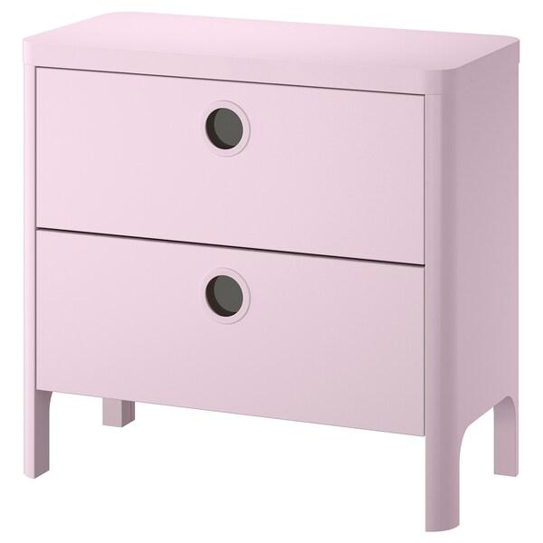 Cassettiere Di Plastica Ikea.Busunge Cassettiera Con 2 Cassetti Rosa Pallido Ikea