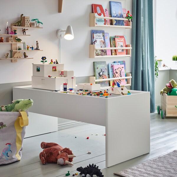 BYGGLEK LEGO® scatola con coperchio, bianco, 26x18x12 cm