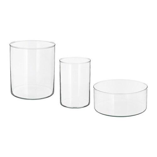 Cylinder vaso ciotola 3 pz ikea for Ikea vasi vetro