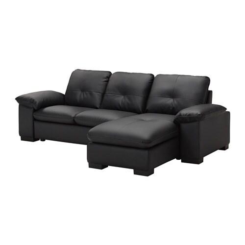 Dagstorp divano a 2 posti con chaise longue kimstad nero - Ikea divano chaise longue ...