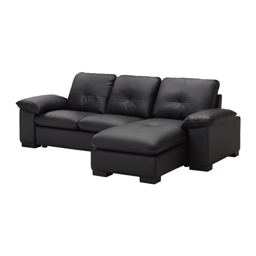 Dagstorp divano a 2 posti e chaise longue kimstad nero for Divano e chaise longue