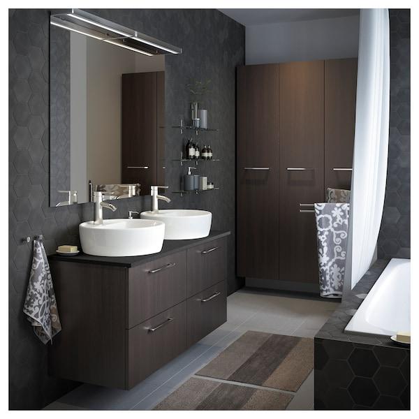 DALSKÄR Miscelatore lavabo/valvola scarico, color acciaio inox