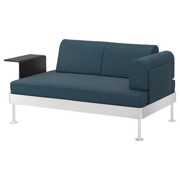 DELAKTIG divano a 2 posti con tavolino Hillared blu scuro 79 cm 169 cm 84 cm 45 cm 20 cm 145 cm 80 cm 45 cm