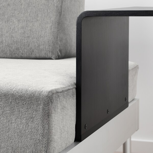 DELAKTIG divano a 2 posti con tavolino Tallmyra bianco/nero 79 cm 169 cm 84 cm 45 cm 20 cm 145 cm 80 cm 45 cm
