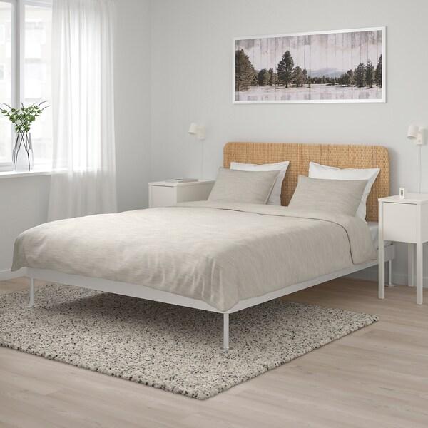 Testiera Letto Matrimoniale Ikea.Delaktig Struttura Letto Con Testiera Alluminio Rattan Ikea