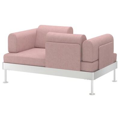 DELAKTIG Divano a 2 posti, Gunnared marrone chiaro-rosa