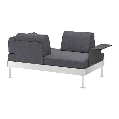 DELAKTIG Divano a 2 posti con tavolino - Gunnared grigio fumo - IKEA