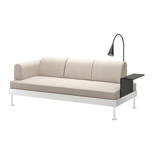 Delaktig Divano 3 Posti Con Tavolino Lampada Gunnared Beige Ikea