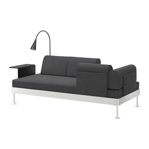 delaktig divano 3 posti con tavolino lampada hillared antracite ikea. Black Bedroom Furniture Sets. Home Design Ideas