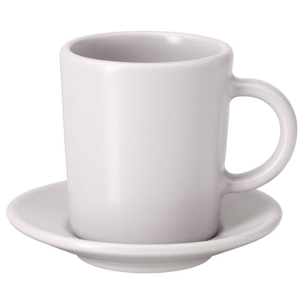 DINERA Tazzina per espresso e piattino, beige, 9 cl