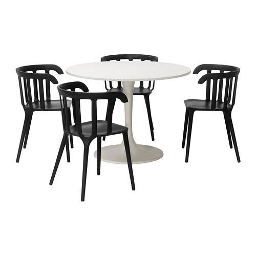 Docksta ikea ps 2012 tavolo e 4 sedie ikea for Tavolo rotondo bianco ikea