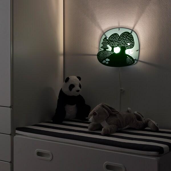 DUGGREGN Lampada da parete a LED, bosco turchese scuro/turchese chiaro