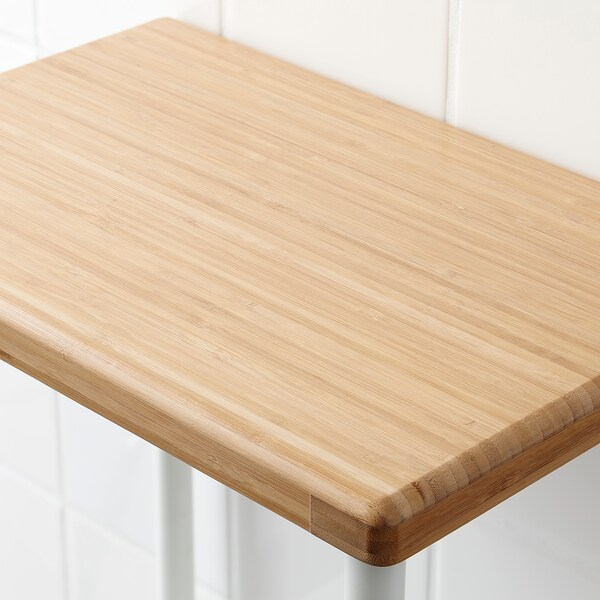 DYNAN scaffale bianco/effetto bambù 40 cm 27 cm 96 cm
