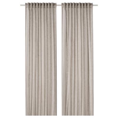 DYTÅG Tenda, 2 teli, grigio chiaro, 145x300 cm