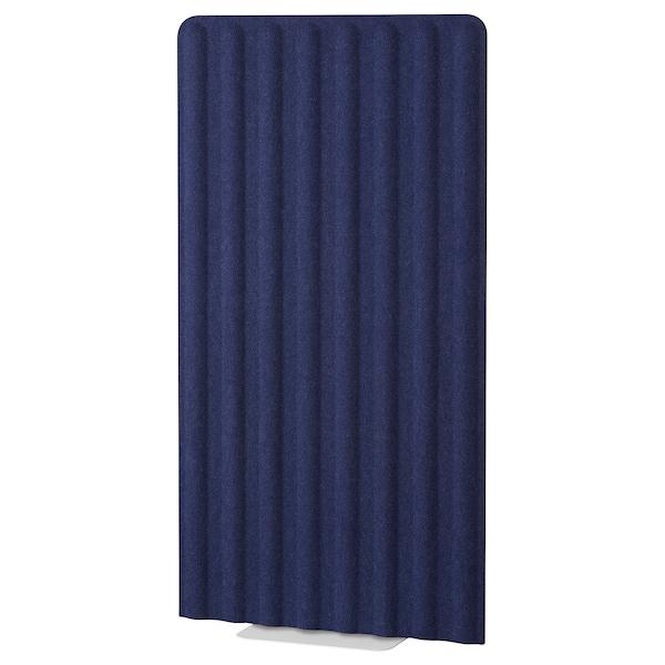 EILIF Paravento freestanding, blu/bianco, 80x150 cm