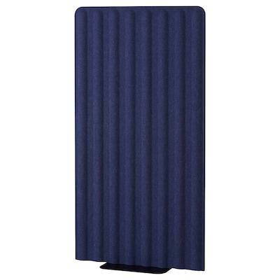 EILIF Paravento freestanding, blu/nero, 80x150 cm