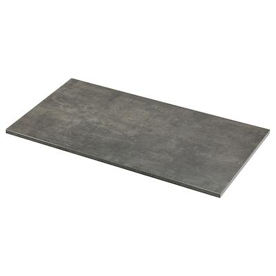 EKBACKEN Piano di lavoro, effetto cemento/laminato, 123x2.8 cm