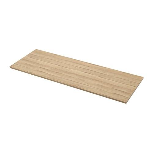 Ekbacken piano di lavoro su misura effetto rovere chiaro - Ikea piano di lavoro ...