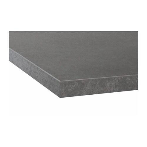 EKBACKEN Piano di lavoro - effetto cemento, 246x2.8 cm - IKEA