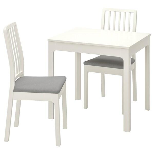 EKEDALEN EKEDALEN Tavolo e 2 sedie, bianco, Orrsta grigio