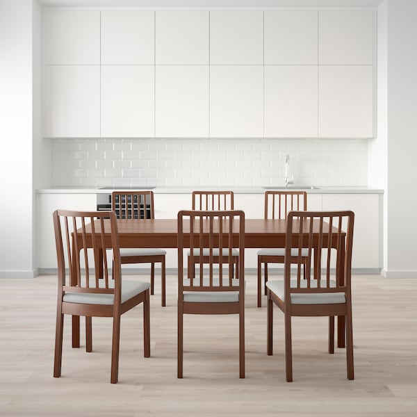 EKEDALEN / EKEDALEN Tavolo e 6 sedie - marrone, Orrsta ...