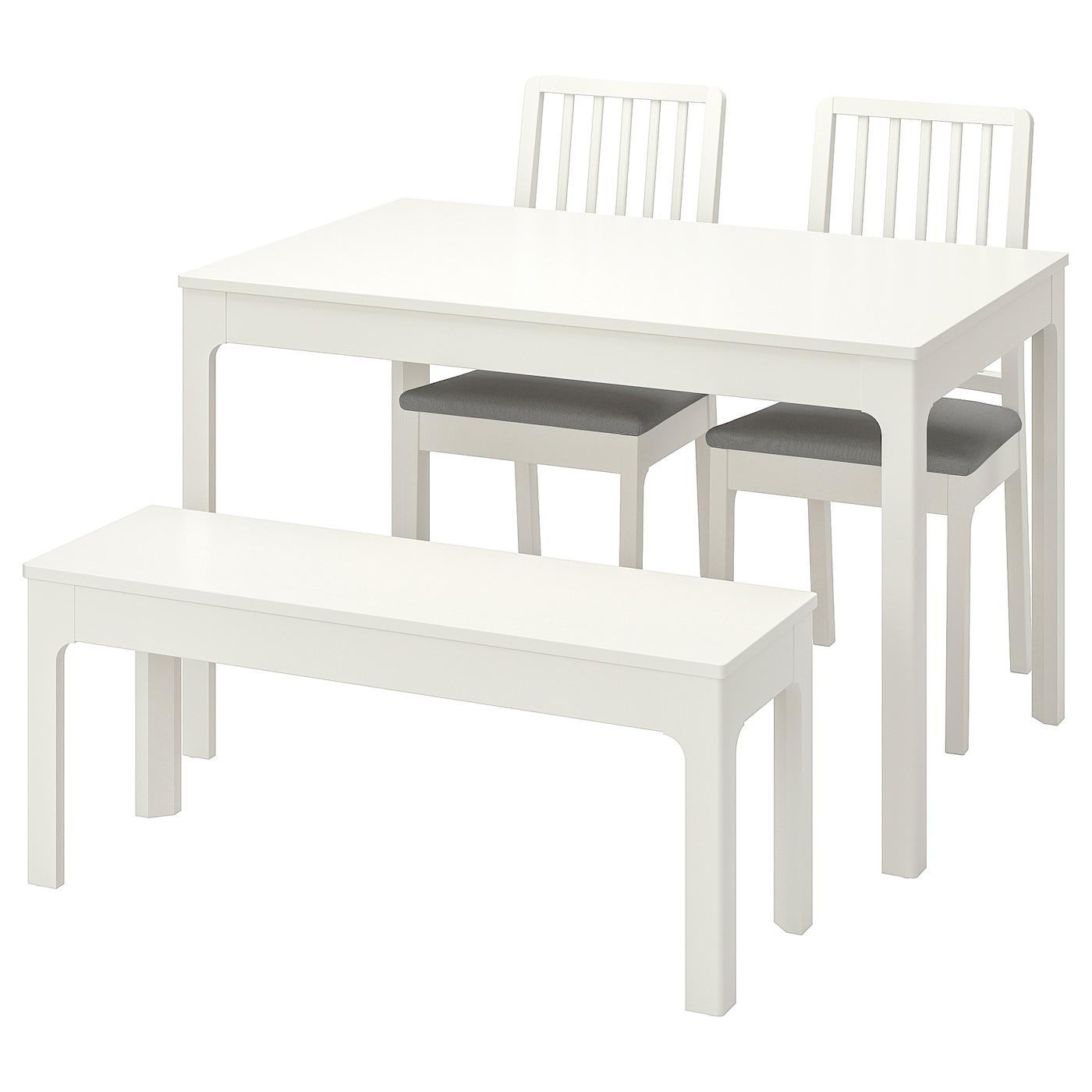 Ekedalen Ekedalen Tavolo Con 2 Sedie E Panca Bianco Orrsta Grigio Chiaro Ikea It