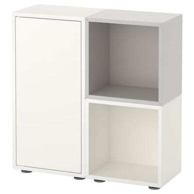 EKET combinazione di mobili con piedini bianco/grigio 70 cm 70 cm 25 cm 72 cm