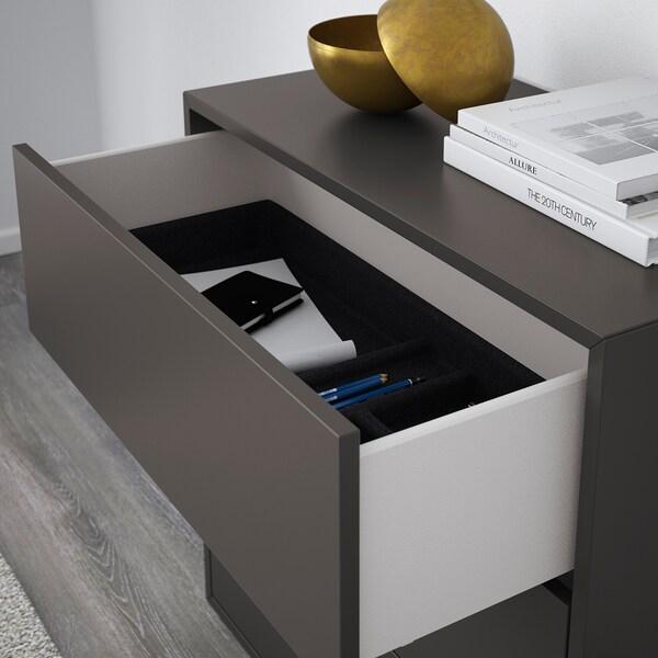 EKET mobile con 3 cassetti grigio scuro 70 cm 35 cm 70 cm 63 cm 28 cm 3 kg