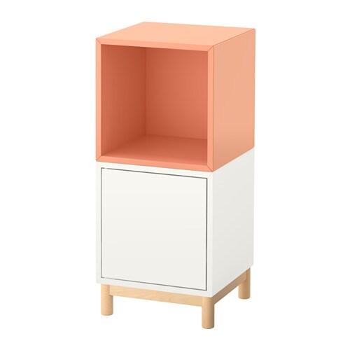 Eket Combinazione Di Mobili Con Gambe Biancosalmone Ikea