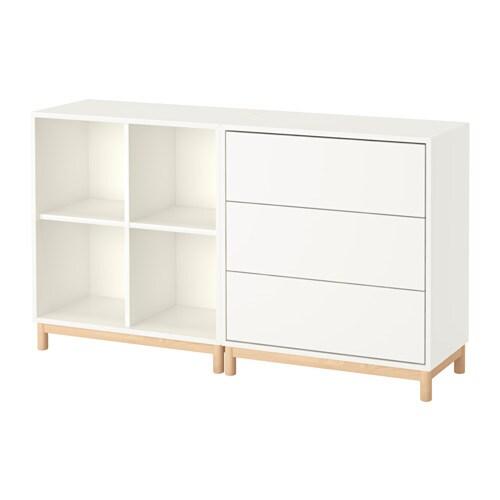Eket combinazione di mobili con gambe bianco ikea for Gambe per mobili ikea