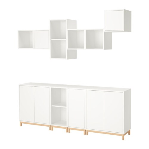 Eket combinazione di mobili con gambe bianco ikea - Ikea montaggio mobili ...