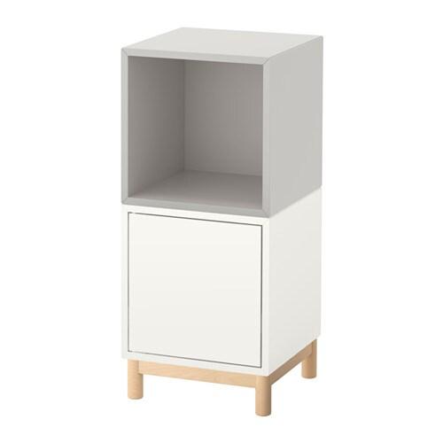Eket combinazione di mobili con gambe bianco grigio chiaro ikea - Gambe per mobili ikea ...