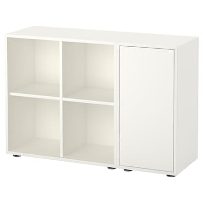 EKET Combinazione di mobili con piedini, bianco, 105x35x72 cm