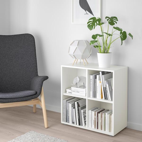 EKET Combinazione di mobili con piedini, bianco, 70x35x72 cm