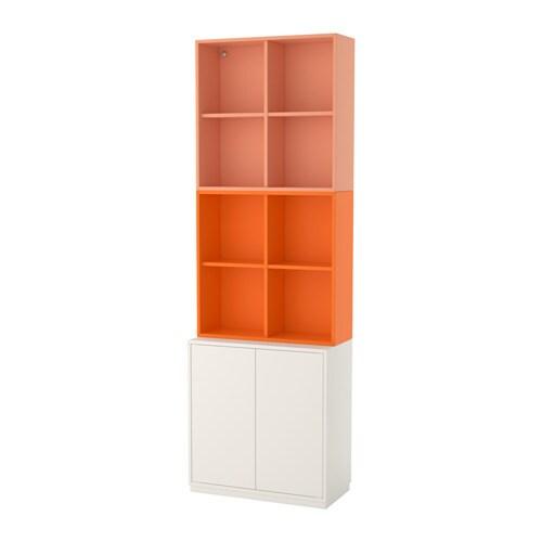 Eket combinazione di mobili con zoccolo bianco arancione for Zoccolo cucina ikea