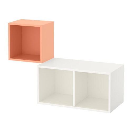 Eket combinazione di mobili da parete salmone bianco ikea for Mobili da parete