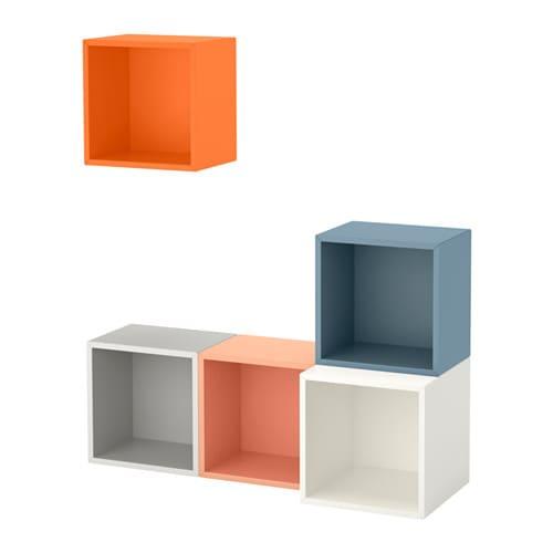 Eket combinazione di mobili da parete multicolore ikea for Mobili da parete